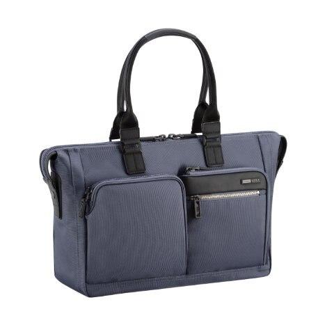 ZERO HALLIBURTON Zest Navy Double Front Pocket Tote Bag zest zest 23742 3