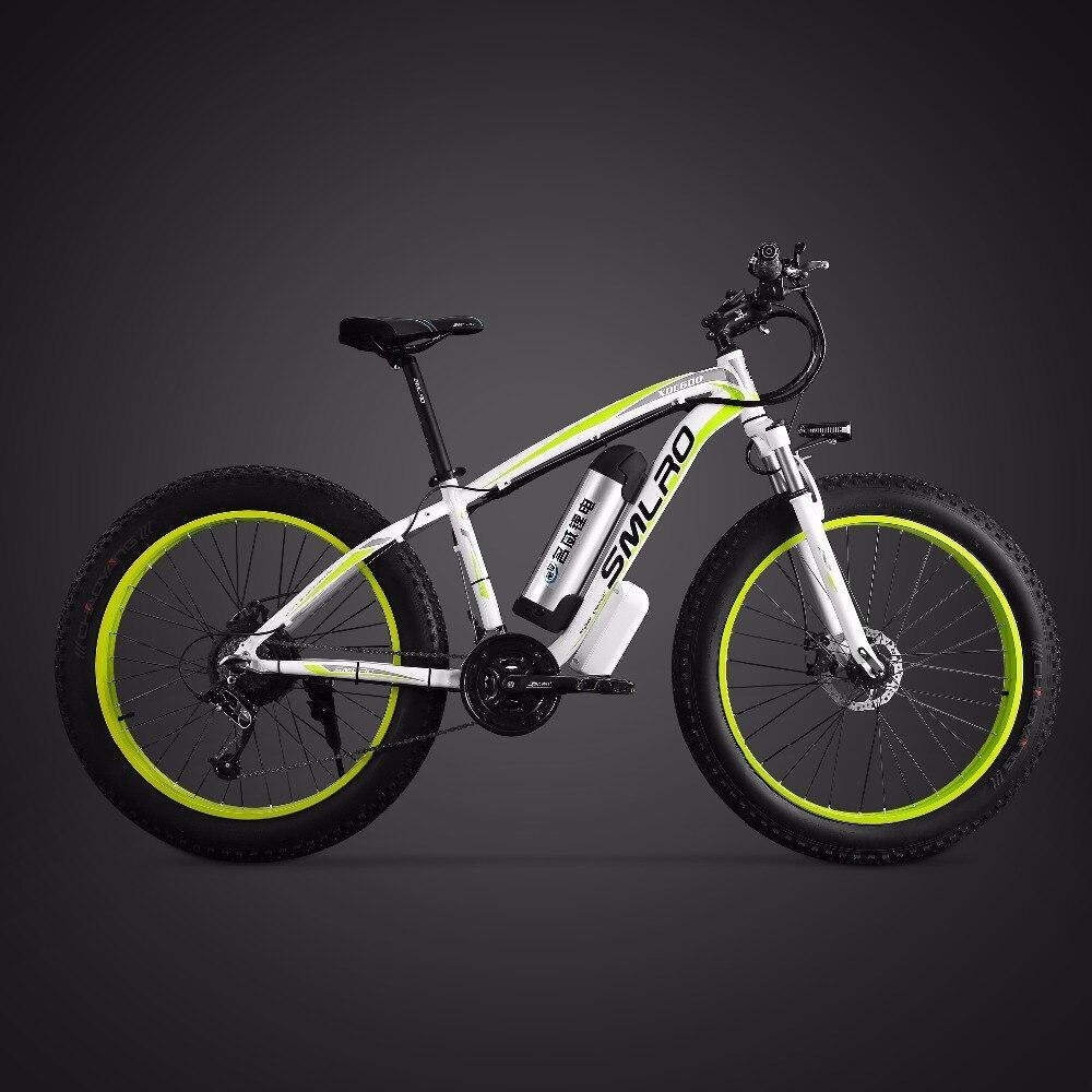 26 pouces vélo de montagne électrique graisse ebike 21 vitesse neige vélo électrique 48 V batterie au lithium 500 W moteur 4.0 gros vélo hybride