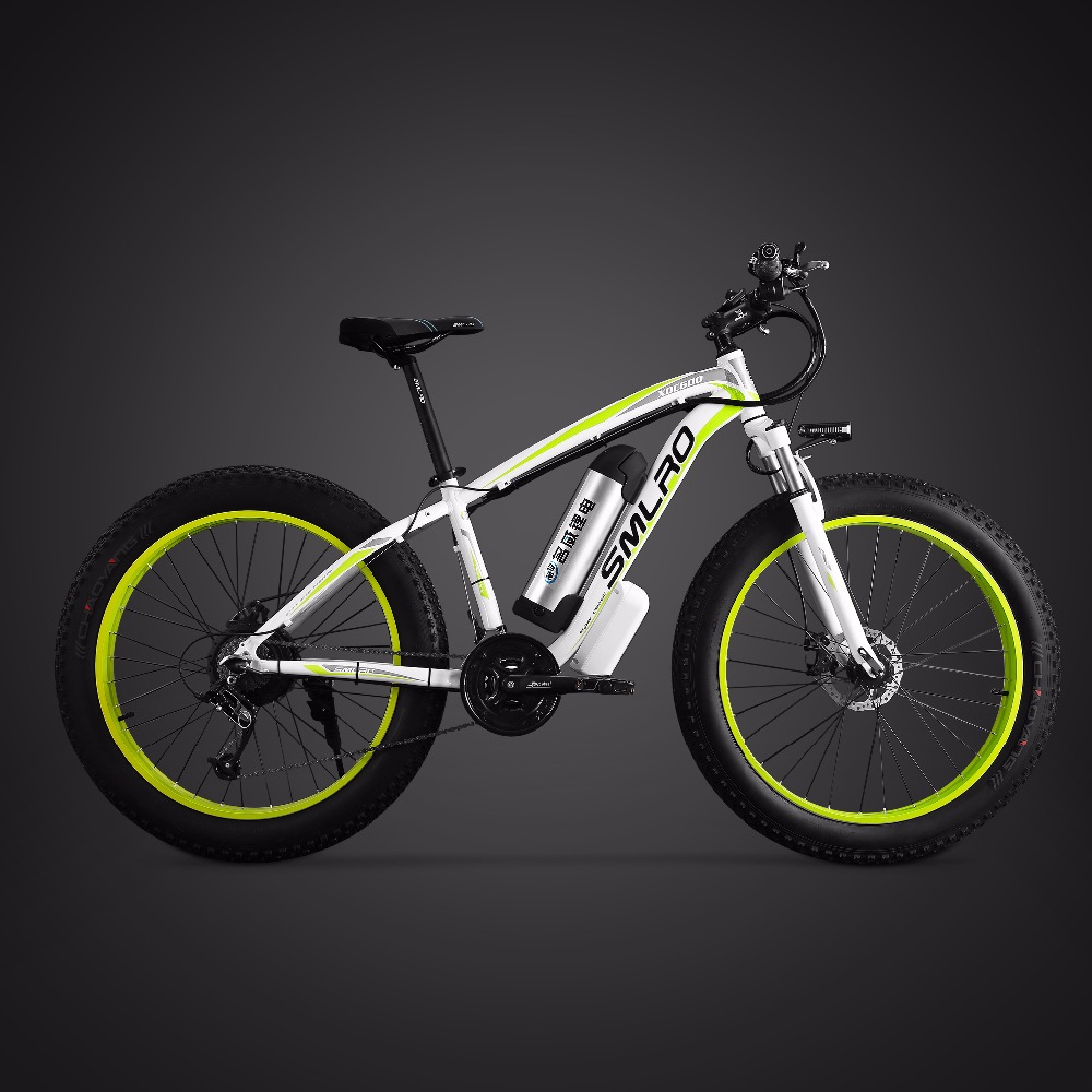 26inch electric mountain bicycle fat ebike 21speed snow electric bike 48V lithium battery 500W motor 4.0 fat Hybrid bicycle