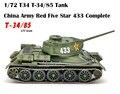 1/72 T34 /85  китайский армейский красный  пять звезд  433  полный коллекционный бак