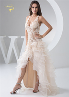 Jeanne Love Sexy Transparent Wedding Dresses 2018 Lady Fashion Open Leg Lace Low Cut Dress Backless