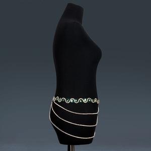Image 5 - Belly Dance Accessories Women Handmade Rhinestones Waist Chain Belly Dance Costumes Hip Belt Chain Women Jewelry