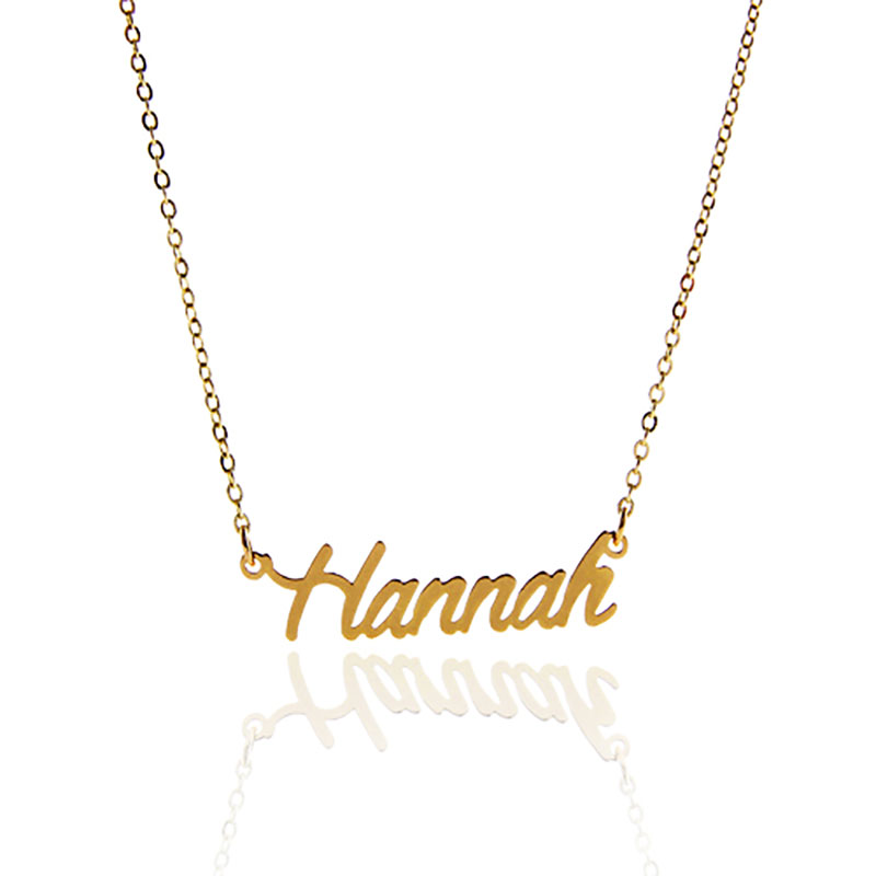 AOLOSHOW Women Letter Necklace Gold Color Name Necklace