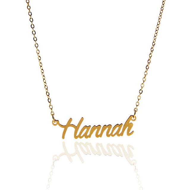 AOLOSHOW Frauen Brief Halskette Gold Farbe Name Halskette \