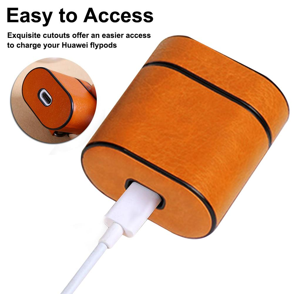 Image 5 - New Earphone Protective Case For Huawei Honor Flypods Wireless Headset Protector Freebuds2pro Protective Leather Case Portable-in Earphone Accessories from Consumer Electronics