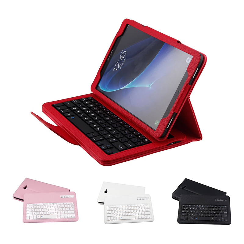 Wireless Bluetooth Keyboard Case for Samsung Galaxy Tab A 10.1 2016 Flip Stand PU Leather Cover for Samsung T580 / T585 Tablet new detachable official removable original metal keyboard station stand case cover for samsung ativ smart pc 700t 700t1c xe700t