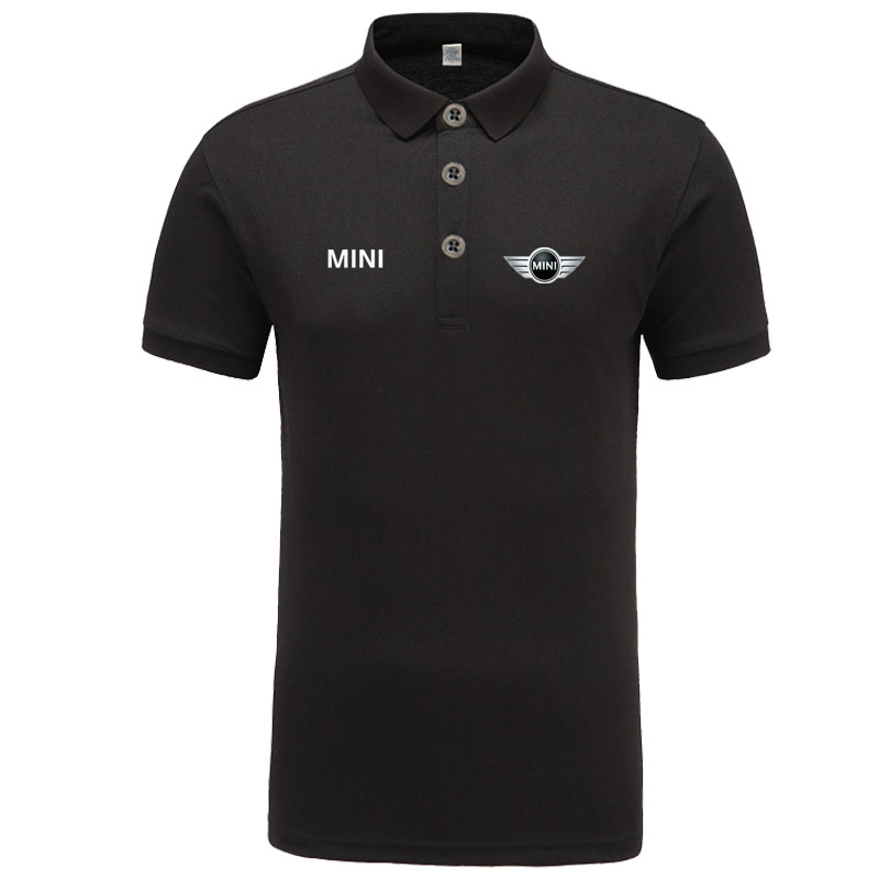 New classic mini logo   Polo   shirt men brand-clothing casual solid summer   Polos   cotton