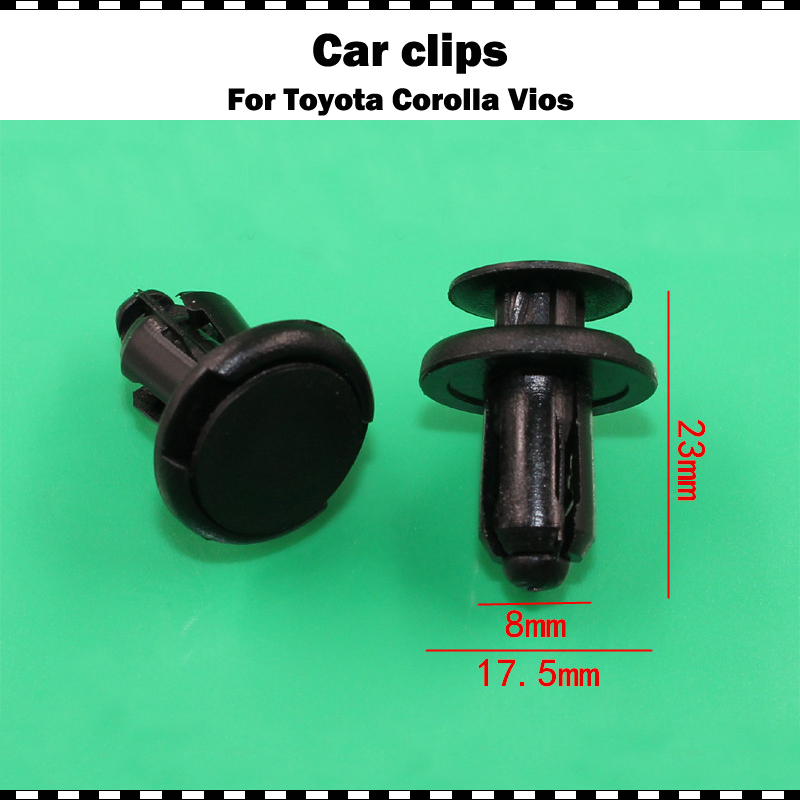 High Quality Plastics Car Bumper Fender Mudguard Rivet Fastener Retainer Clips Fit For Toyota Avalon Camry Celica Corolla