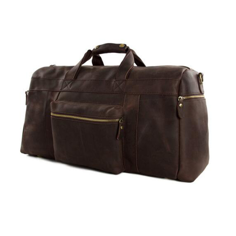 "ROCKCOW Vintage Original Leather Cowhide 23 ""Large Capacity Travel Luggage Men Duffle Bags 1098"