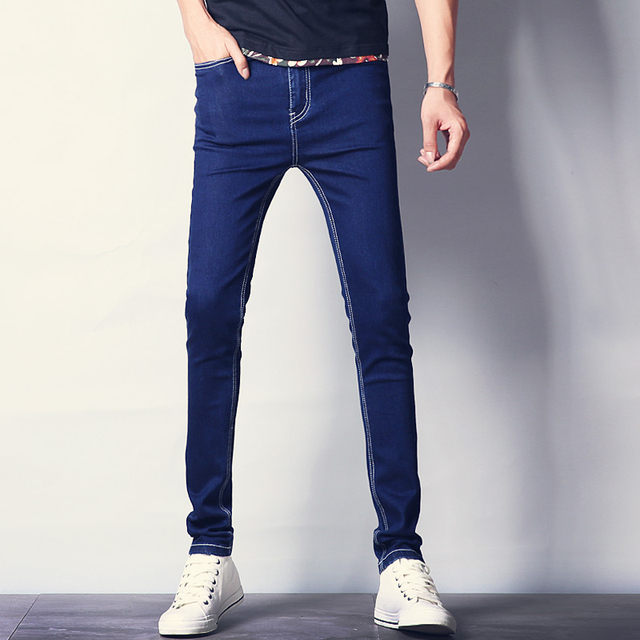 401a7625cb6 Quality New Men Fashion Jeans Autumn Winter Hot Sale Slim Fit Solid Skinny  Mens Jeans Stretch