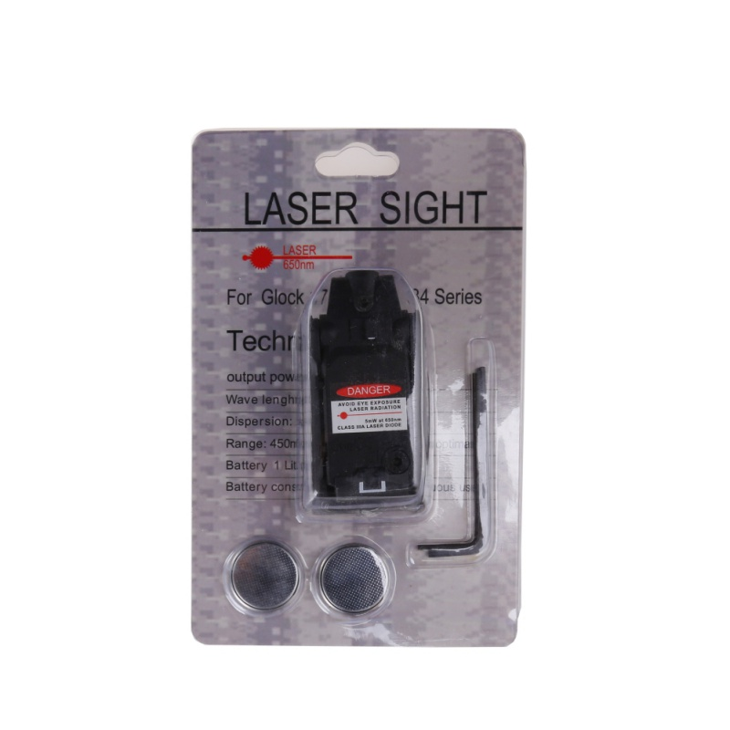 Hunt Tactical Glock Laser Sight Rear Red Laser High Base Aiming fit Airsoft Glock 17 18C 19 22 23 25 26 27 28 31 32 33 34 35 37Hunt Tactical Glock Laser Sight Rear Red Laser High Base Aiming fit Airsoft Glock 17 18C 19 22 23 25 26 27 28 31 32 33 34 35 37