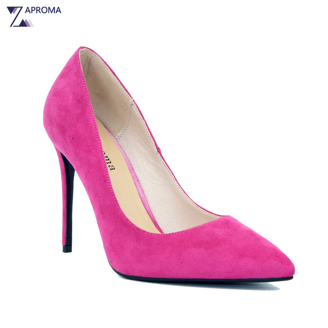64cf6cd1e612 Elegant Multi Color Thin Heel Women Pointed Toe Evening Shoes Wedding Party  Slip On Pink Yellow Bridal High Heels Pumps 12cm
