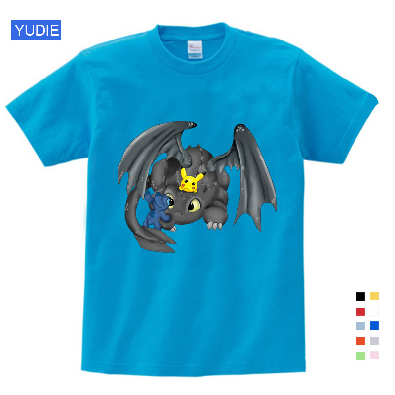 Pocket Without Teeth Shirt Men Tops Linda How To Train Your Dragon Cartoon Clothes Summer Clothing Cotton T Shirt Toy Story in T Shirts from Mother Kids