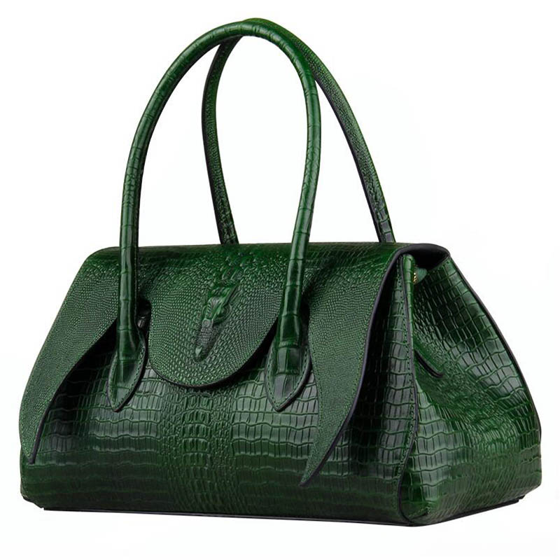 LUOFEIHUA  2019 new high-end crocodile leather handbag handbag Fashion large capacity handbag branded handbagLUOFEIHUA  2019 new high-end crocodile leather handbag handbag Fashion large capacity handbag branded handbag