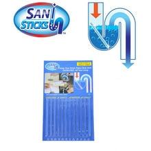 12/набор Sani палочки масло обеззараживание кухня туалет Ванна Очиститель Слива канализационная Чистящая штанга удобный канализационный очиститель волос