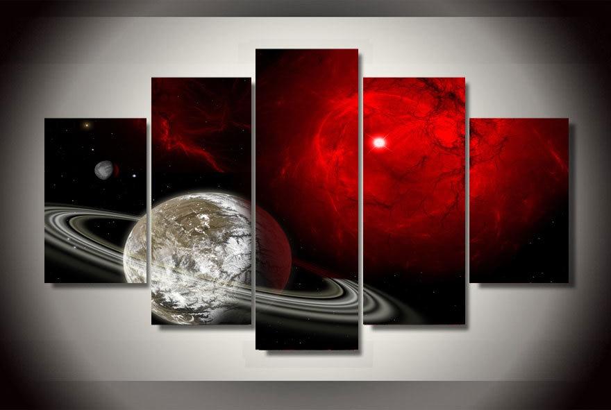 16a1806c6dc7b HD imprimió la pintura del universo de la estrella en la lona decoración de  la habitación impresión cartel foto lienzo envío libre ny-1843