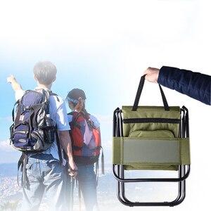 Image 2 - Silla de pesca plegable con bolsillo, refrigerador móvil, para mantener el calor, frío, portátil, asiento de 1350g, para acampar, 100kg