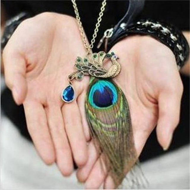 Free shipping new hot Fashion High quality chain rhinestone peacock feather wing
