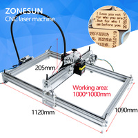 5500MW AS 3 Big Work Area 100 100cm DIY Laser Mcahine Laser Engraving Machine Cnc Laser