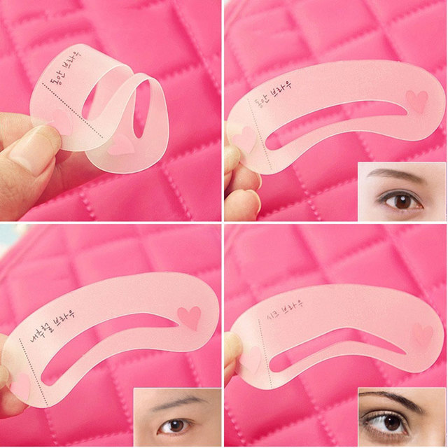 3 Pcs New Eyebrow Stencil Tool Makeup Eye Brow Template Shaper Make Up Tool  MH88 5