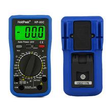 Multimetro Цифровой HoldPeak HP-90C 1000 В Цифровой Мультиметр Метр с Батареей/Сопротивления/Емкости Тест