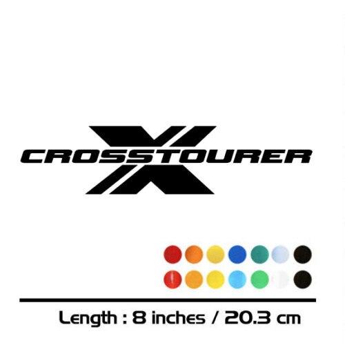 2 X New Motorcycle Sticker Bike Fuel Tank Wheels Helmet Fairing Luggage MOTO Car Accessories Reflective Decal For CROSSTOURER X