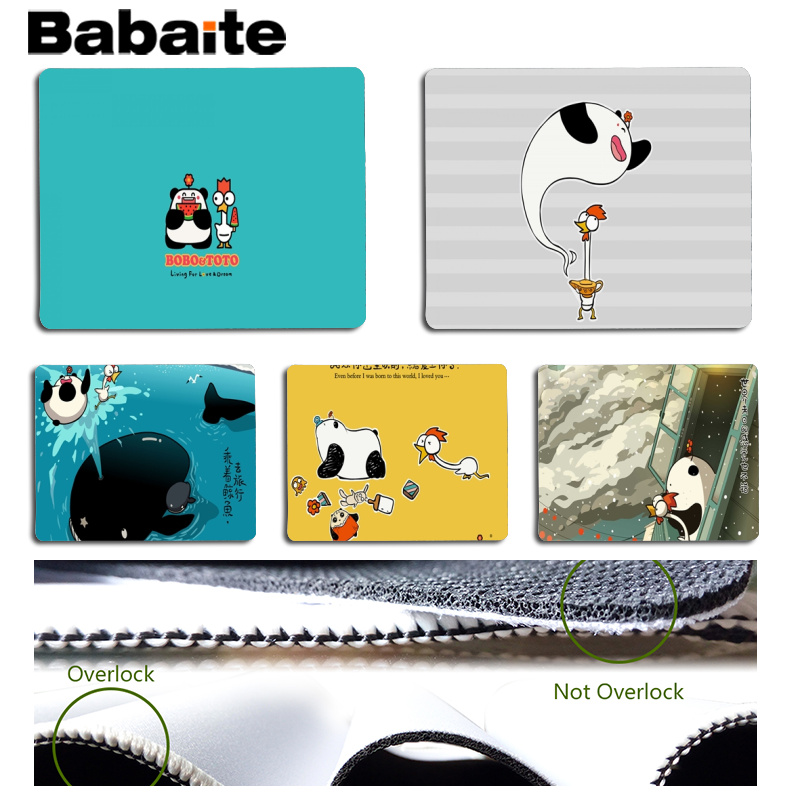 Babaite Cool New BoBoToTo gamer play mats Mousepad Size for 18x22cm 25x29cm Rubber Mousemats