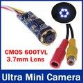 CMOS 600TVL Super Mini Cámara Con Cable Lindo Ultra Mini Cámara CCTV Cámara con 6 unids Led de Visión Nocturna para 1.2G/2.4G inalámbrica