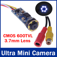CMOS 600TVL Super Mini Câmera Com Fio Bonito Ultra Mini Câmera CCTV Câmera com 6 pcs LEDs de Visão Noturna para 1.2G/2.4G sem fio