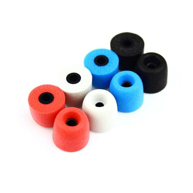 4 pairs (8ピース) nicehckノイズ分離するメモリ泡cセット3ミリメートル/5ミリメートル遵守t100/t400イヤーチップ用で耳のイヤホンインナーイヤー型送料無料