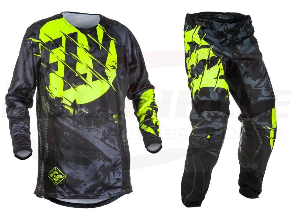 Moto mouche poissons course pantalons & Jersey Combos Motocross MX course costume Moto Dirt Bike MX ATV Gear Set