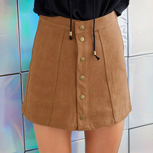 Tassel Suede Deerskin Skirts Women Sexy Vintage A-Line Office Skirts  mini ladies skirt Casual winter 2017 bodycon short skirt