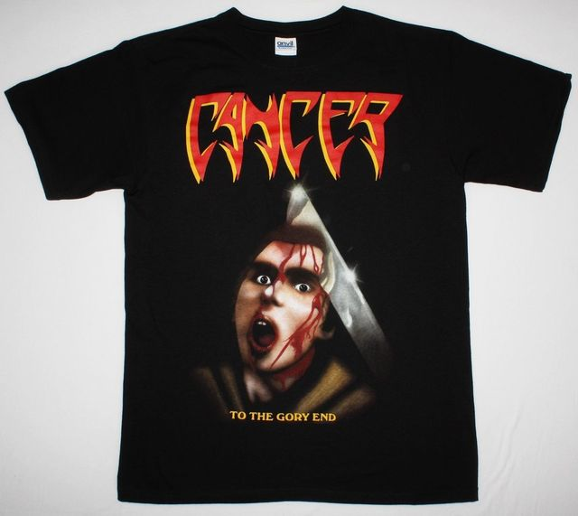 Cancer T Shirt Designs   Cancer To The Gory End Death Disincarnate Obituary Deicide New Black