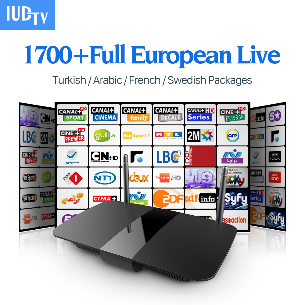 Europe IPTV Android Tv Set Top Box 1 Year Iudtv Account IPTV Subscription Italian UK Germany