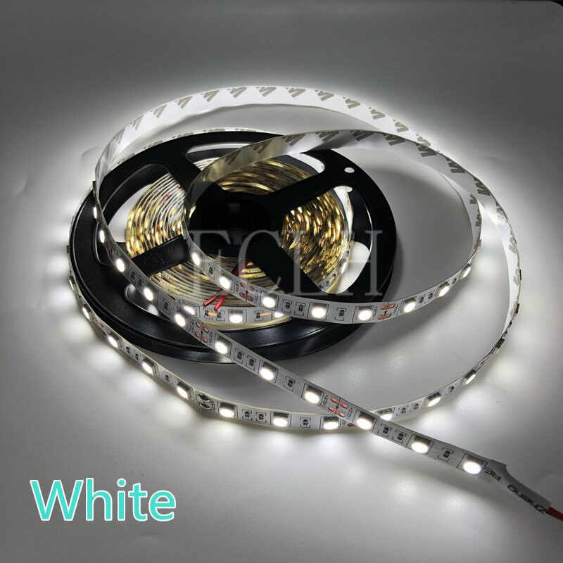 5 м RGB Светодиодная лента 12 В 2835 5050 5630 Теплый Холодный белый RGB 300 светодиодный SMD лента для потолочного счетчика шкафа свет не водонепроницаемый