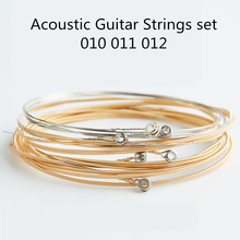 Acoustic Guitar Strings set 010 A60xl Silver Pure Coper Acoustic Wound Guitar Strings For Guitarra Parts Accessories 6pcs/set