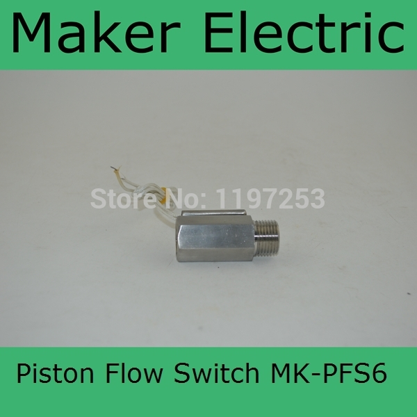MK-PFS6 piston flow sensor piston water piston type flow switches ,Piston Type liquid flow switch stainless steel flow switch johnson f61kb 11c stainless steel target type flow switch flow switch flow controller 1 inch outside the wire