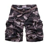 Summer Cargo Shorts Men Camouflage Shorts Male Camo Knee length Comfortable Mens Short Pants hombre Shorts With Belt Plus Size