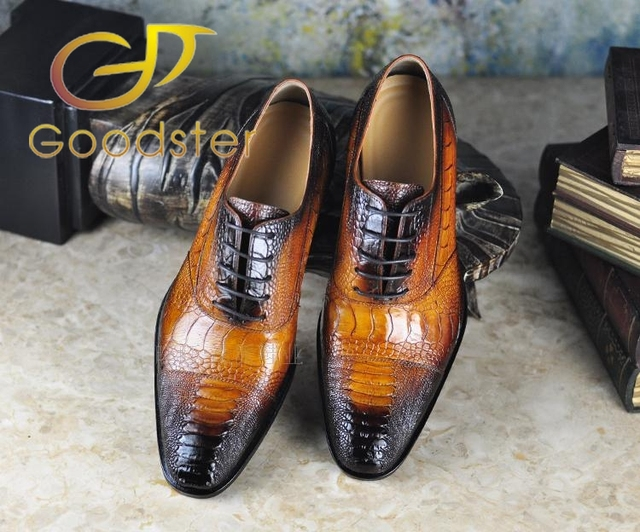 Mens Ostrich Skin Shoes