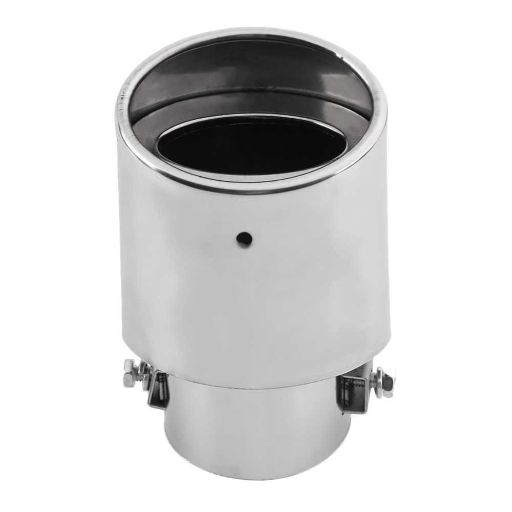 2017 ユニバーサル車エキゾーストマフラーヒントステンレス鋼管クロームトリム修正された車のテール喉ライナーパイプ排気システムホット