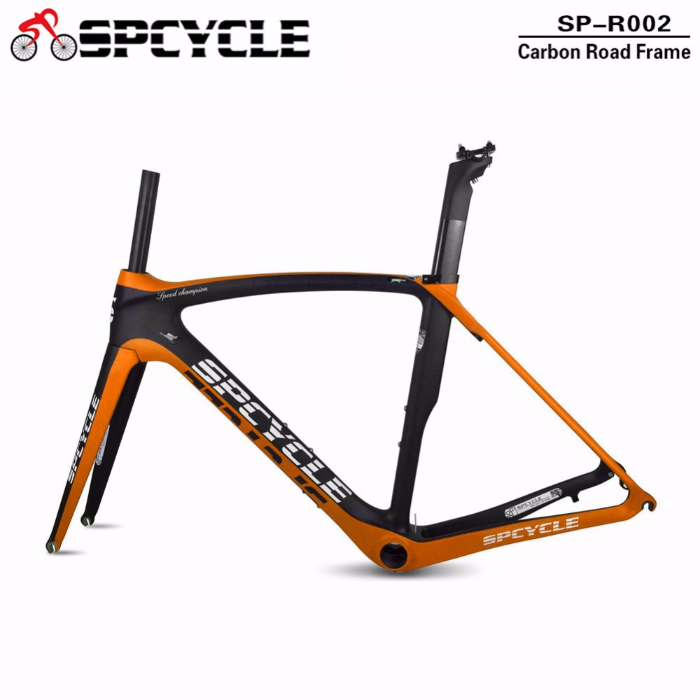 купить Spcycle 700c Road Carbon Bicycle Frames, Full Carbon Aero Bycycle Framesets, Racing Cycling Carbon Bike Frames 50/53/55/57cm по цене 36174.67 рублей