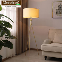 Qiseyuncai 2018 new Nordic Living Room Fully Copper Floor Lamp Simple Creative Study Bedroom Bedside Decoration Lighting