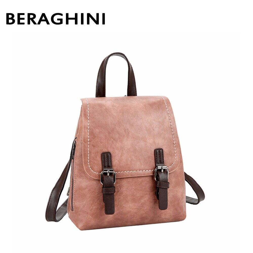 2018 New Women leather Backpack School Bags For Teenagers Female Shoulder Bag Travel Bag pack Rucksack Bolsas Mochilas Femininas