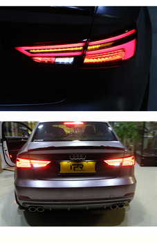 Car Styling Taillight Accessories For Audi A3 Tail Lights 2011- 2018 LED Tail Light Rear Lamp Dynamic turn signal