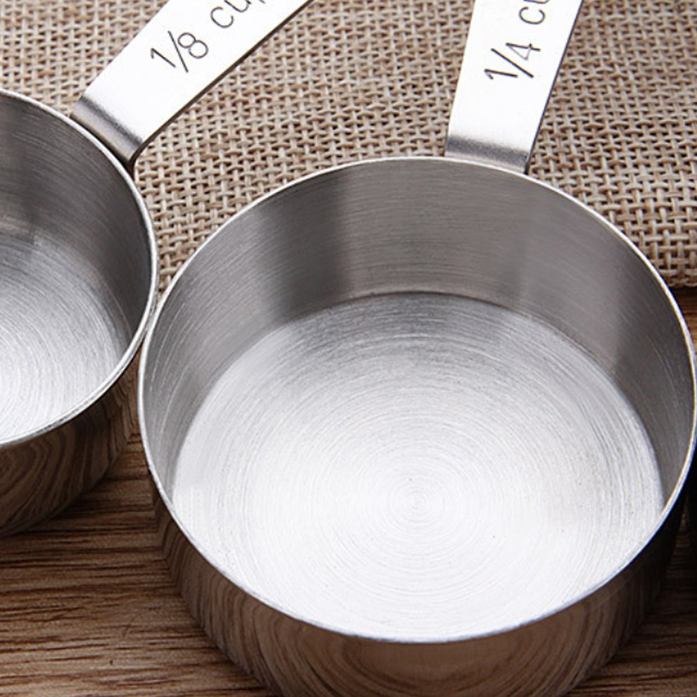 Set of 5 Stainless Steel Measuring Cups 3