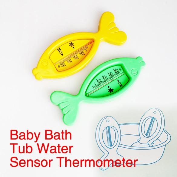 Уход за младенцами Для ванной и душа воды термометр прекрасный Пластик плавающая рыба детские игрушки Для ванной ванна воды Сенсор термометр разные цвета