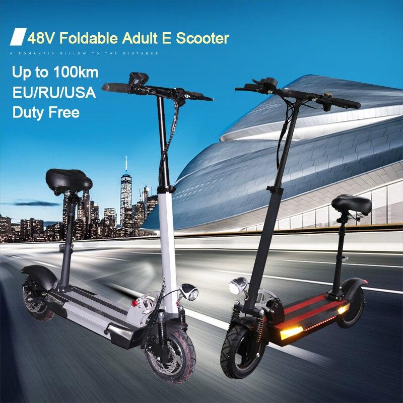 JS 48v 500w Scooter Elettrico 48V 26AH A Lunga Distanza 100km Per Adulti Pieghevole Longboard Hoverboard di Skateboard E scooter Trasporto Libero