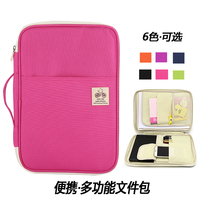 A4 filing products file bags Waterproof Oxford school file folder for documents Portable Zipper Storage Bag Fichario Escolar