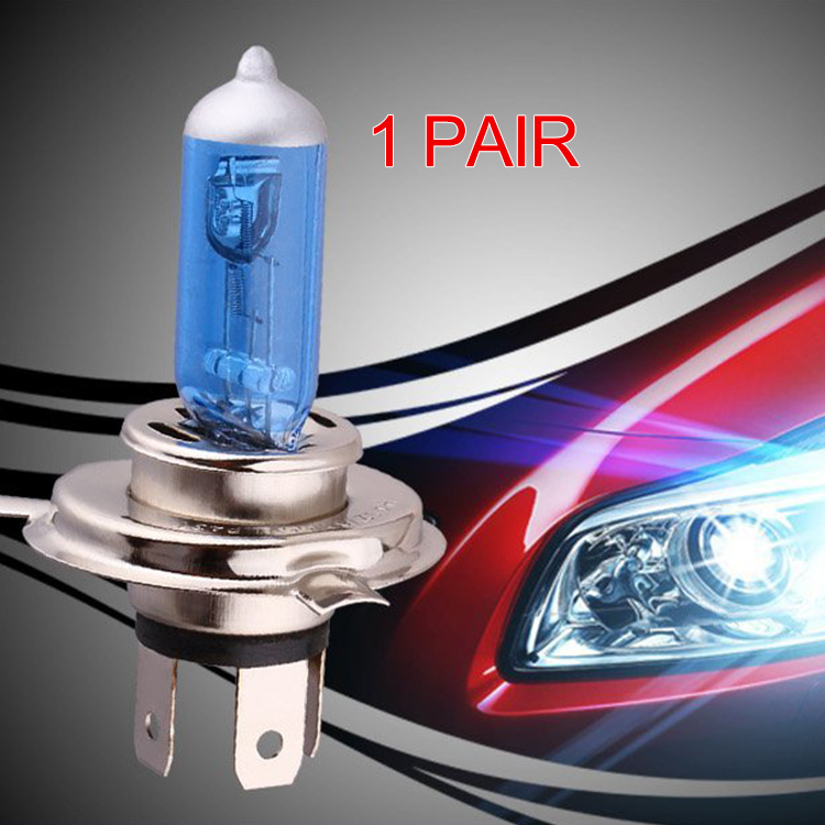 Super Bright White Car Light Source H4 Bulbs Halogen Lamp For Auto Car Motorcycle Headlight 12V 100W 1 Pair Halogen Bulb  hod 9006 100w 6000k super bright car white light bulbs pair dc 12v
