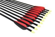 Longbowmaker 12PCS 32 Inches Fiberglass Target Practice Arrows F2RBT2